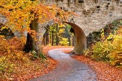 Γέφυρα σε Valdstejn Castle στοκ φωτογραφία με δικαίωμα ελεύθερης χρήσης