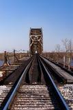 Γέφυρα σιδηροδρόμου του Καίρου - ποταμός του Οχάιου, Κεντάκυ & Κάιρο, Ιλλινόις Στοκ Φωτογραφία