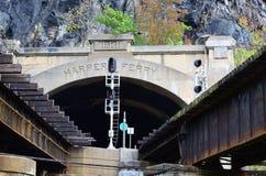 Γέφυρα σιδηροδρόμων στο πορθμείο Μέρυλαντ Harper Στοκ εικόνα με δικαίωμα ελεύθερης χρήσης