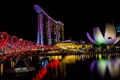 Γέφυρα Σινγκαπούρη ελίκων Στοκ Εικόνες