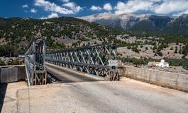 Γέφυρα σιδήρου πέρα από το φαράγγι Aradena Στοκ φωτογραφίες με δικαίωμα ελεύθερης χρήσης
