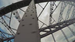 Γέφυρα σιδήρου Bolsheokhtinsky απόθεμα βίντεο