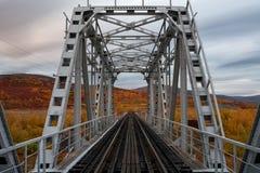 Γέφυρα σιδηροδρόμων που περιβάλλεται από τα τοπία φθινοπώρου Στοκ φωτογραφίες με δικαίωμα ελεύθερης χρήσης