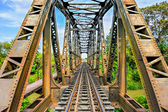 Γέφυρα σιδηροδρόμων Στοκ Εικόνες