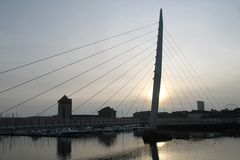 Γέφυρα Σουώνση Ουαλία πανιών Στοκ Φωτογραφία
