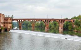 Γέφυρα στην Άλβη, Γαλλία στοκ εικόνες
