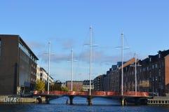 Γέφυρα στην Κοπεγχάγη στοκ εικόνα