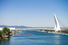 Γέφυρα στη λίμνη Hamana στοκ εικόνα με δικαίωμα ελεύθερης χρήσης