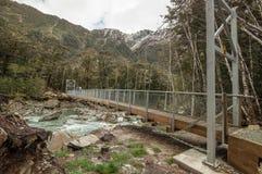 Γέφυρα στη διαδρομή Routeburn, Νέα Ζηλανδία Στοκ Εικόνες