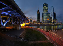 Γέφυρα στη Μόσχα, Ρωσία Στοκ εικόνα με δικαίωμα ελεύθερης χρήσης