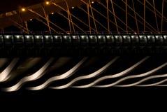 Γέφυρα στη νύχτα - λεπτομέρειες στοκ εικόνες