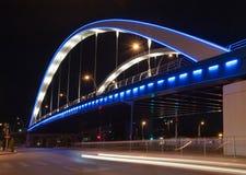 Γέφυρα στη νύχτα Στοκ φωτογραφία με δικαίωμα ελεύθερης χρήσης