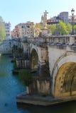 Γέφυρα στη Ρώμη, Ιταλία Στοκ εικόνες με δικαίωμα ελεύθερης χρήσης