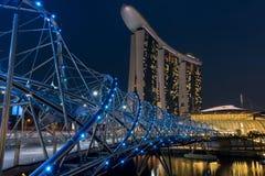 Γέφυρα στη Σιγκαπούρη στοκ φωτογραφίες