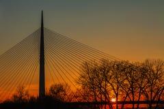 Γέφυρα στη Ada Στοκ εικόνες με δικαίωμα ελεύθερης χρήσης