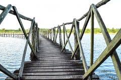 Γέφυρα στις άγρια περιοχές Στοκ Φωτογραφία