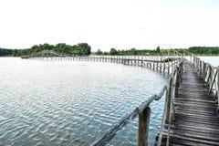 Γέφυρα στις άγρια περιοχές Στοκ εικόνα με δικαίωμα ελεύθερης χρήσης