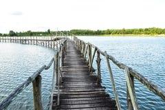 Γέφυρα στις άγρια περιοχές Στοκ εικόνες με δικαίωμα ελεύθερης χρήσης