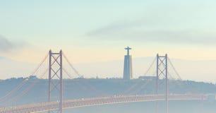Γέφυρα στις 25 Απριλίου της Λισσαβώνας, Πορτογαλία Στοκ φωτογραφία με δικαίωμα ελεύθερης χρήσης