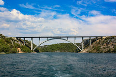 Γέφυρα στον ιόνιο Στοκ Εικόνα