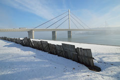 Γέφυρα στον ποταμό Δούναβη Στοκ φωτογραφίες με δικαίωμα ελεύθερης χρήσης