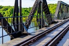 Γέφυρα στον ποταμό Kwai, επαρχία Kanchanaburi, Ταϊλάνδη Στοκ Εικόνες