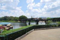 Γέφυρα στον ποταμό Kwai Στοκ Φωτογραφίες