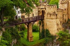 Γέφυρα στο κάστρο Lichtenstein στη Γερμανία Στοκ φωτογραφία με δικαίωμα ελεύθερης χρήσης