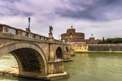 Γέφυρα στο κάστρο Sant ` Angelo, Ρώμη Στοκ φωτογραφίες με δικαίωμα ελεύθερης χρήσης