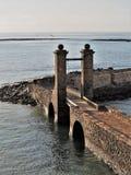 Γέφυρα στο λιμενικό τοίχο Arrecife, Lanzarote Στοκ φωτογραφίες με δικαίωμα ελεύθερης χρήσης