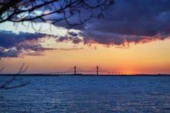 Γέφυρα στο νησί Tybee Στοκ εικόνες με δικαίωμα ελεύθερης χρήσης
