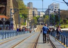 Γέφυρα στο Πόρτο, Πορτογαλία Στοκ Εικόνες