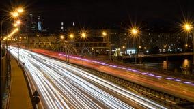 Γέφυρα στο τρίτο δαχτυλίδι μεταφορών στη Μόσχα Στοκ εικόνα με δικαίωμα ελεύθερης χρήσης