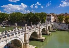 Γέφυρα στο Castle de Sant Angelo στη Ρώμη Ιταλία Στοκ φωτογραφία με δικαίωμα ελεύθερης χρήσης