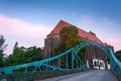 Γέφυρα στο wroclaw Στοκ Εικόνες
