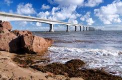Γέφυρα συνομοσπονδίας, νησί του Edward πριγκήπων, Καναδάς στοκ φωτογραφίες