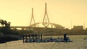 1812 γέφυρα συνταγμάτων από το Ρίο SAN Pedro Puerto πραγματική Ισπανία απόθεμα βίντεο