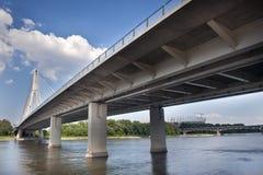 γέφυρα σύγχρονη Βαρσοβία Στοκ Φωτογραφίες