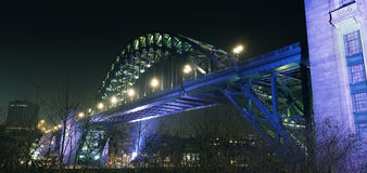 Γέφυρα Τάιν στο Νιουκάσλ Gateshead Στοκ Εικόνες