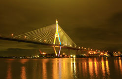 γέφυρα Ταϊλάνδη bhumibol της Μπανγ&k Στοκ Φωτογραφίες