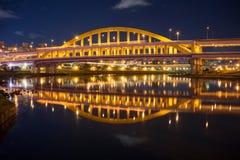 Γέφυρα Ταϊπέι Ταϊβάν MacArthur στοκ εικόνες