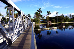 Γέφυρα ταλάντευσης Στοκ φωτογραφίες με δικαίωμα ελεύθερης χρήσης