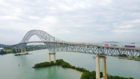 Γέφυρα της Αμερικής πέρα από το κανάλι του Παναμά στοκ φωτογραφία με δικαίωμα ελεύθερης χρήσης