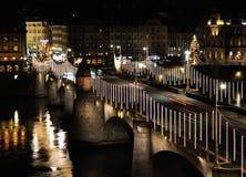 Γέφυρα της Βασιλείας τή νύχτα Στοκ φωτογραφία με δικαίωμα ελεύθερης χρήσης