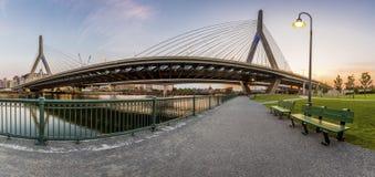 γέφυρα της Βοστώνης zakim Στοκ Εικόνα