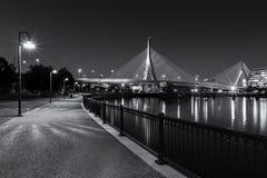 γέφυρα της Βοστώνης zakim Στοκ Φωτογραφία