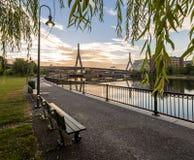 γέφυρα της Βοστώνης zakim Στοκ φωτογραφίες με δικαίωμα ελεύθερης χρήσης