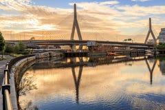 γέφυρα της Βοστώνης zakim Στοκ Εικόνες