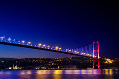 Γέφυρα της Κωνσταντινούπολης Bosphorus Στοκ εικόνα με δικαίωμα ελεύθερης χρήσης