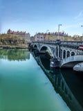 Γέφυρα της Λυών στο RhÃ'ne Στοκ Εικόνες